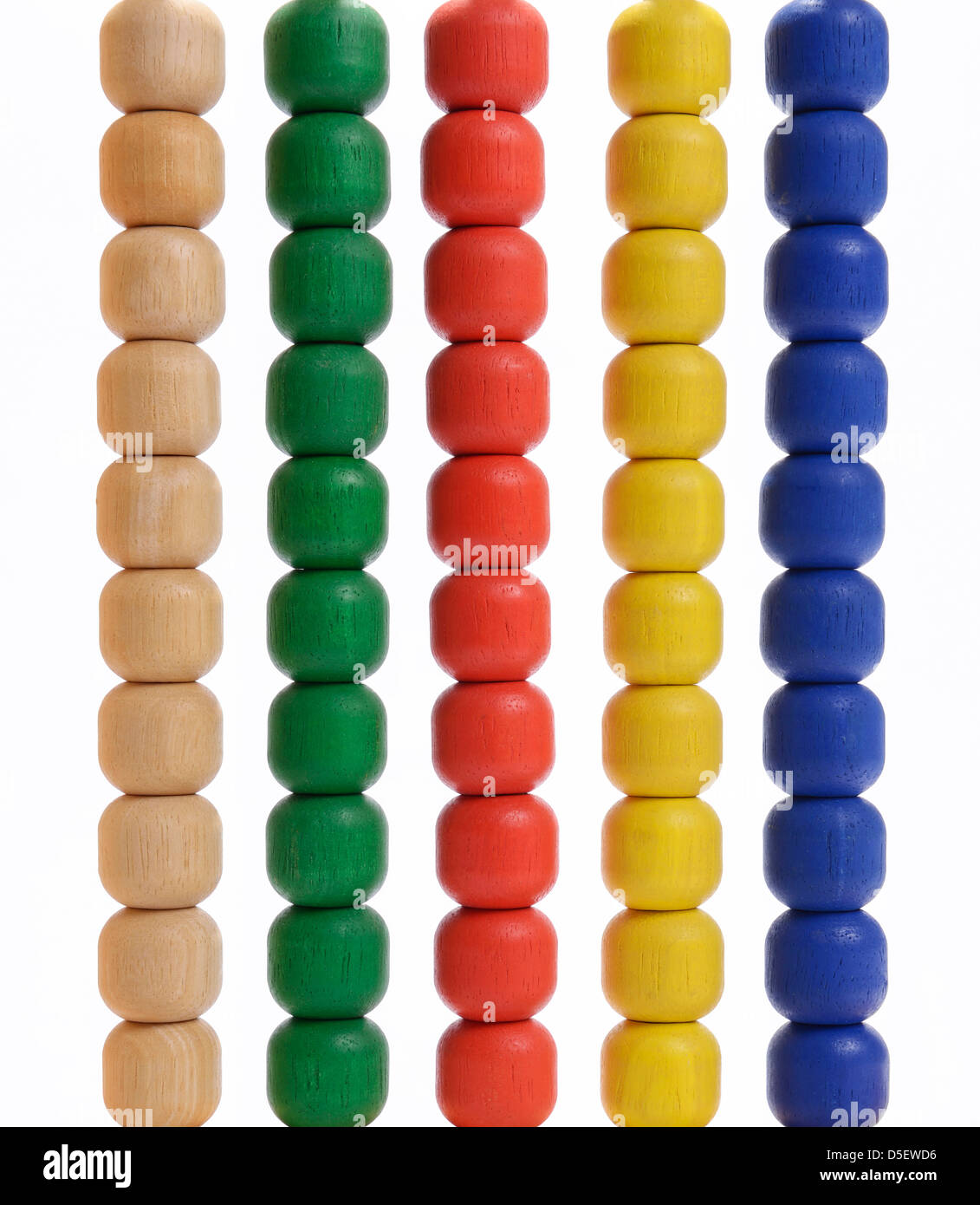 Abacus beads - Stock Image
