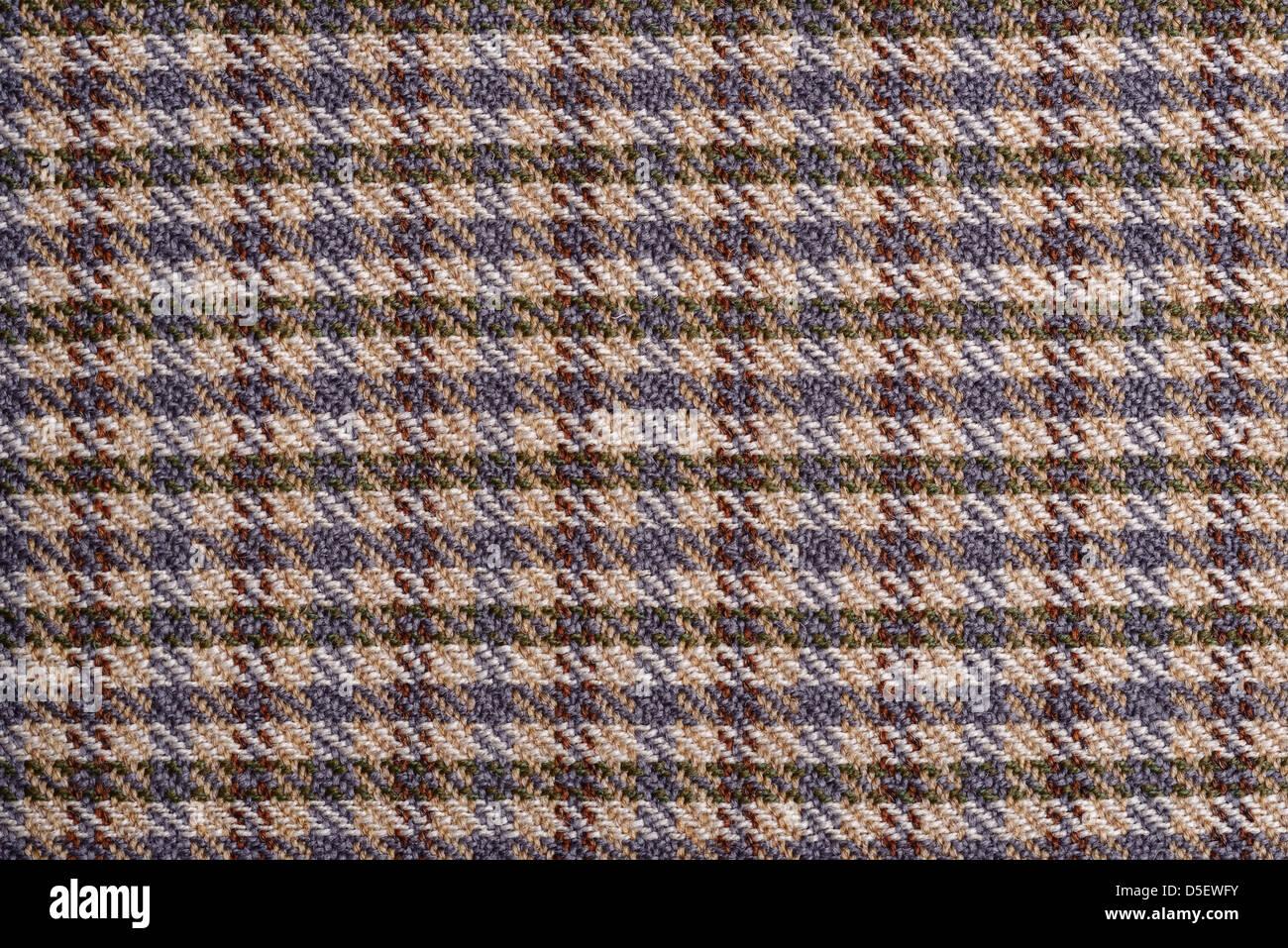 Wool tweed fabric detail - Stock Image