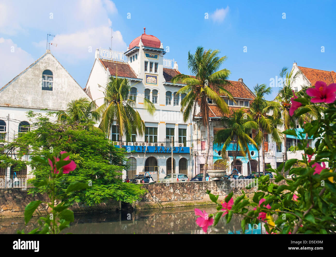 dutch colonial buildings in jakarta old town indonesia - Stock Image