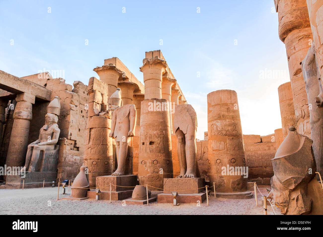 statue of pharaoh in luxor temple, luxor, egypt - Stock Image