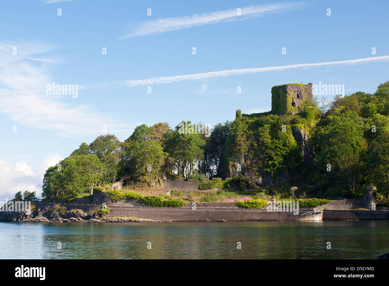 Castle of Dunollie in Oban - An-t-Oban, Argyll and Bute, Scotland - Stock Image