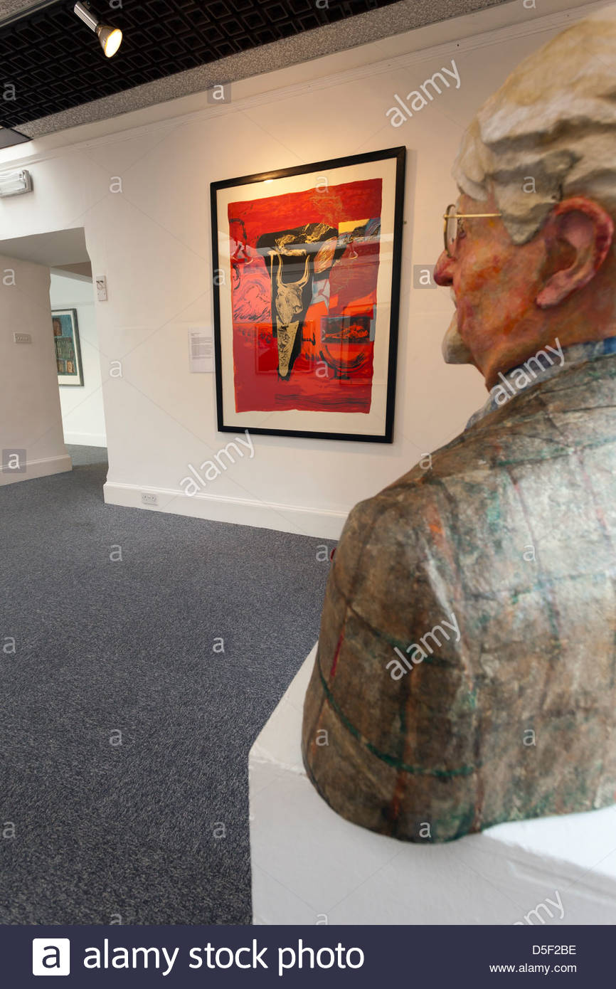Exhibition space in the Gracefield Arts Centre, Dumfries - Stock Image