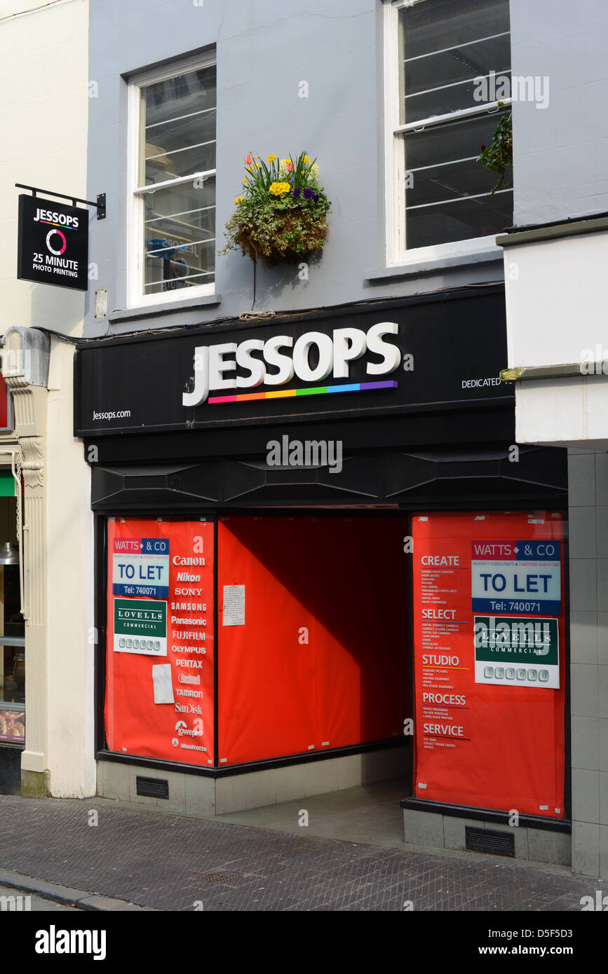 Vacant Jessops Shop in Guernsey - Stock Image