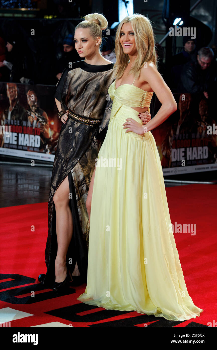 Kimberly Wyatt and Ashley Roberts arrive for the UK premiere of A Good Day To Die Hard. Stock Photo