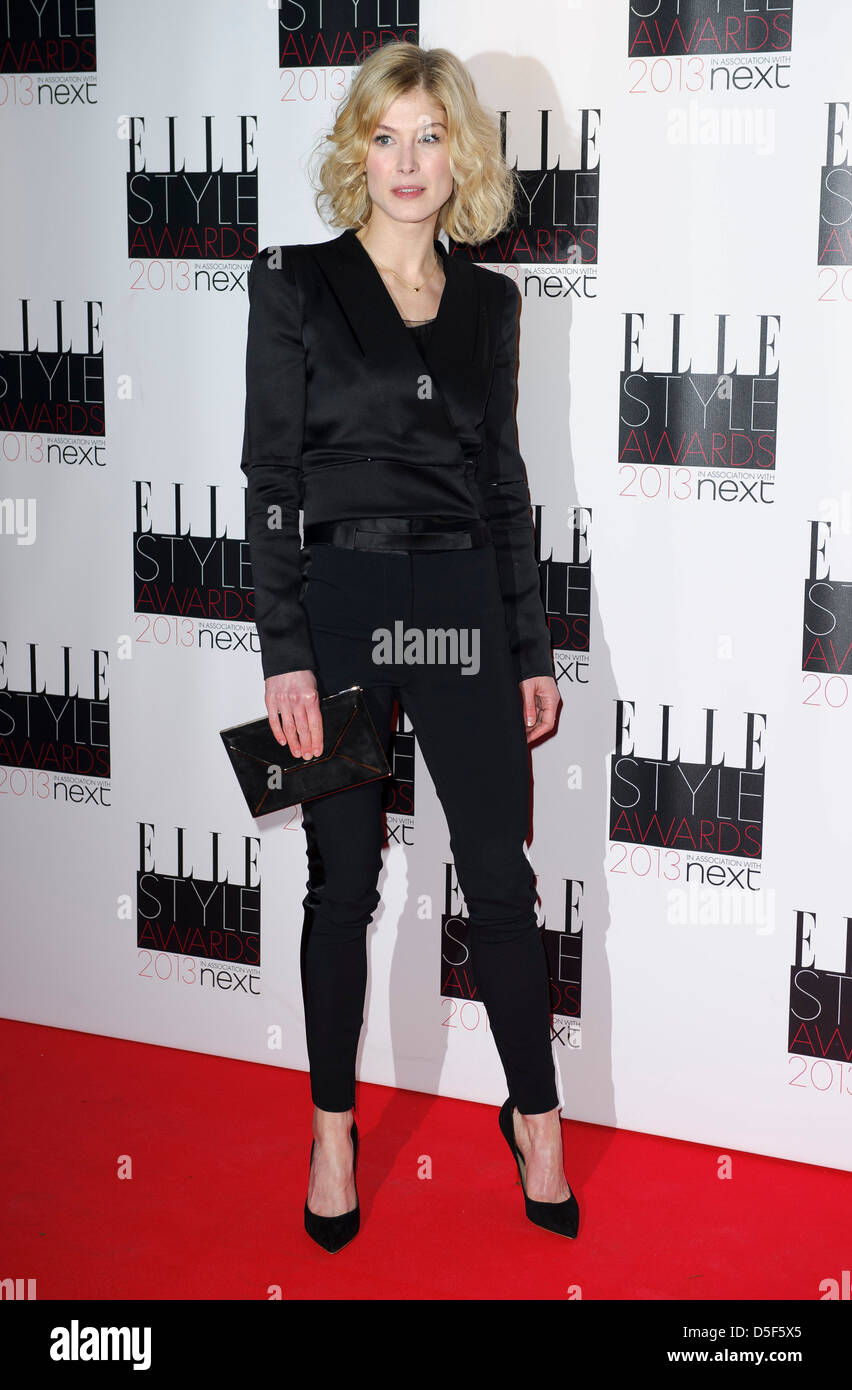 Rosamund Pike arrives for the Elle Style Awards. - Stock Image