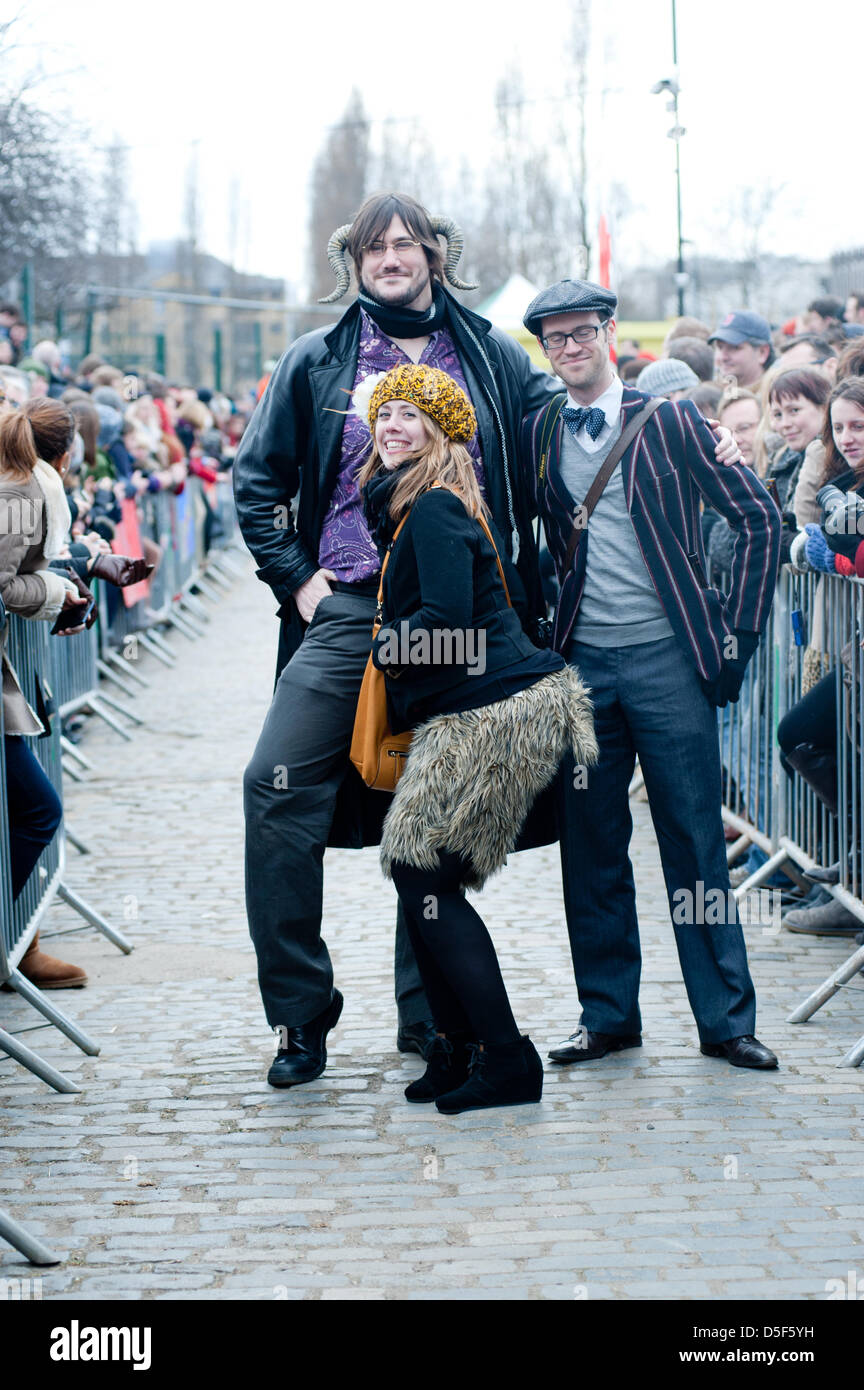 London, UK - 31 March 2013: the best costume competition during the 5th Annual Oxford and Cambridge Goat Race that - Stock Image