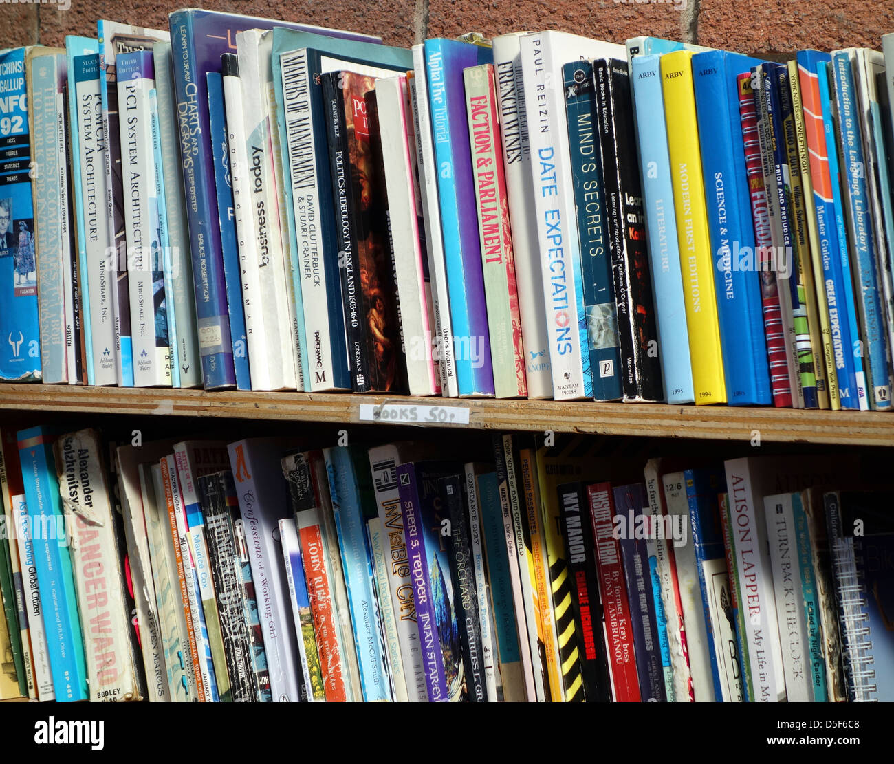 Books On A Shelf Stock Photos Books On A Shelf Stock Images Alamy