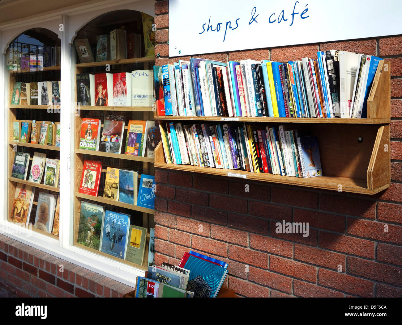 a second hand book shop - Stock Image
