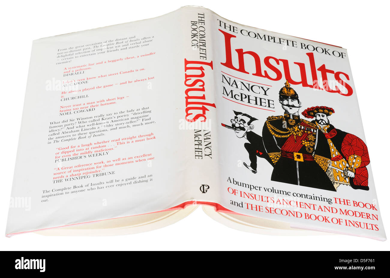 The Complete Book of Insults by nancy McPhee - Stock Image
