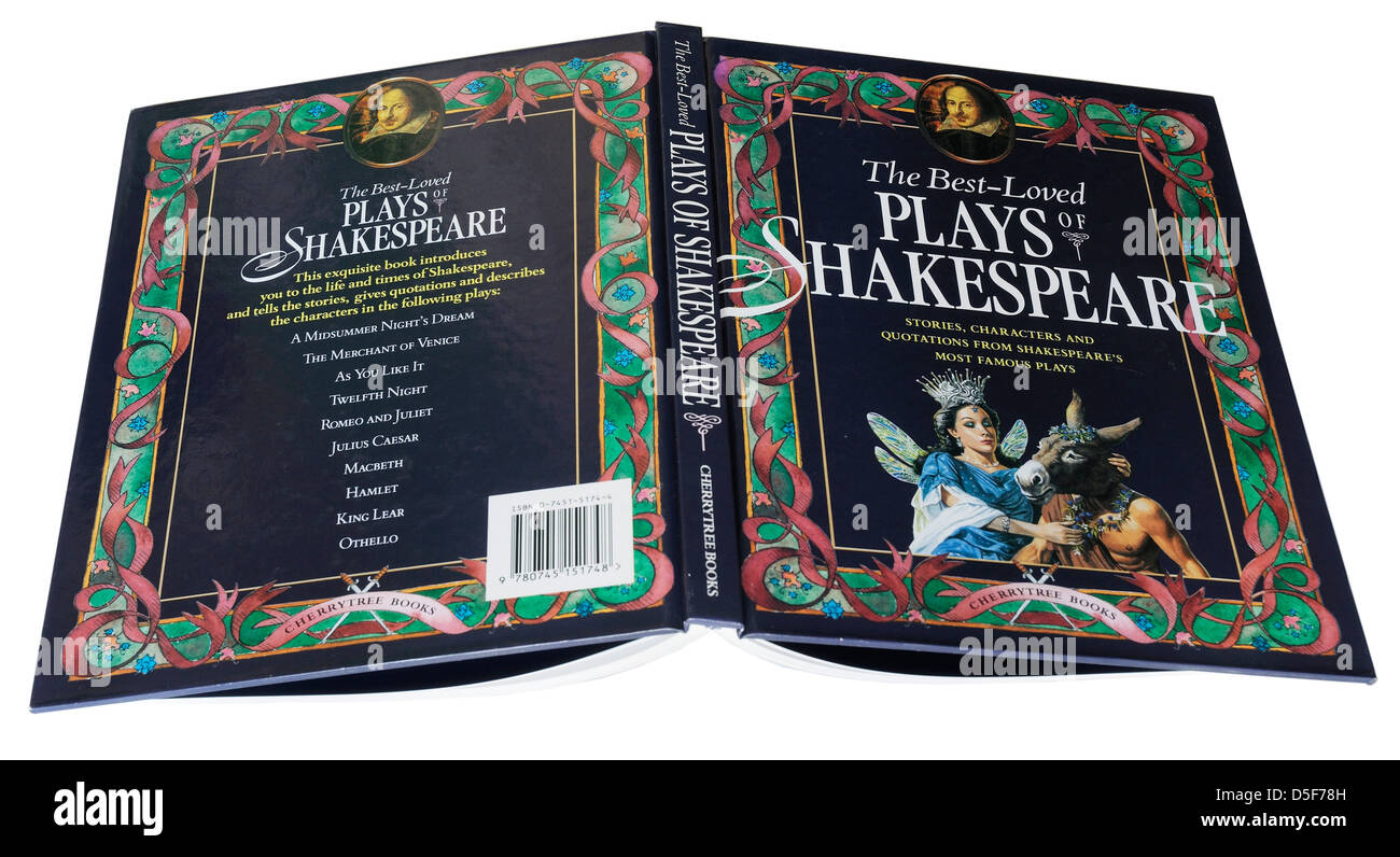 The Best Loved Plays of Shakespeare, an illustrated guide book to Shakespeare's famous plays Stock Photo