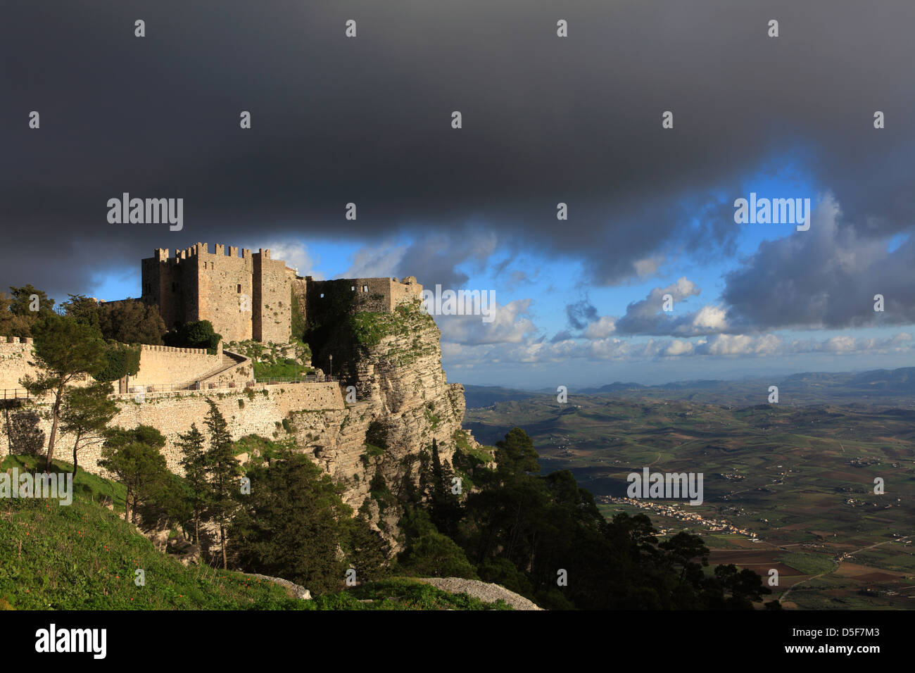 The Venus Castle at Erice, Sicily, Italy - Stock Image