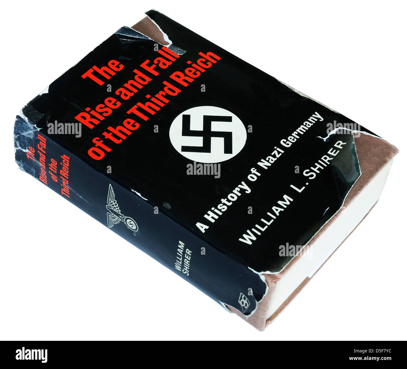 The Rise and Fall of the Third Reich by William Shirer - Stock Image