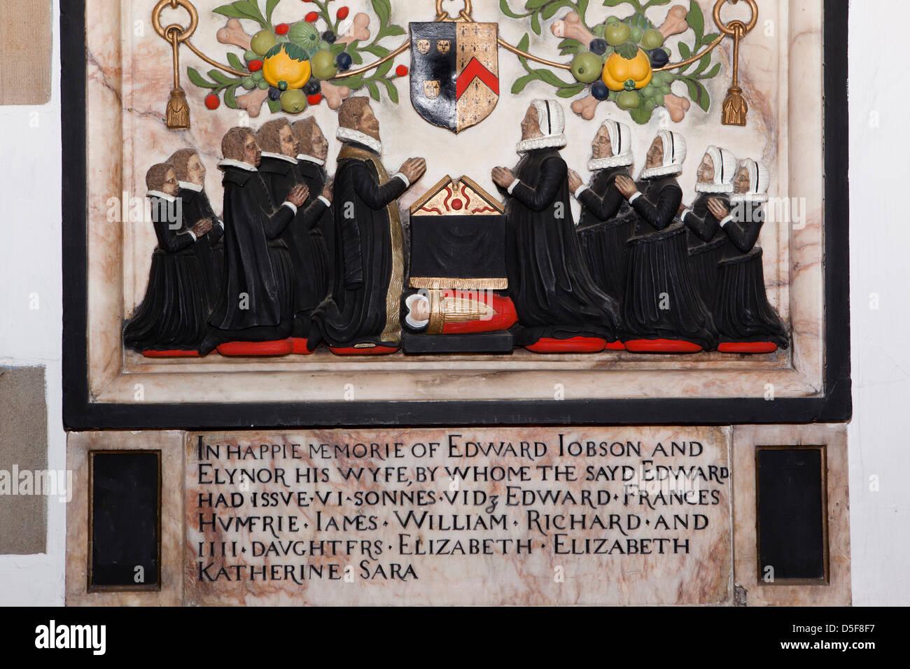 England, Berkshire, Windsor, parish church of St John the Baptist, Edward Jobson memorial - Stock Image