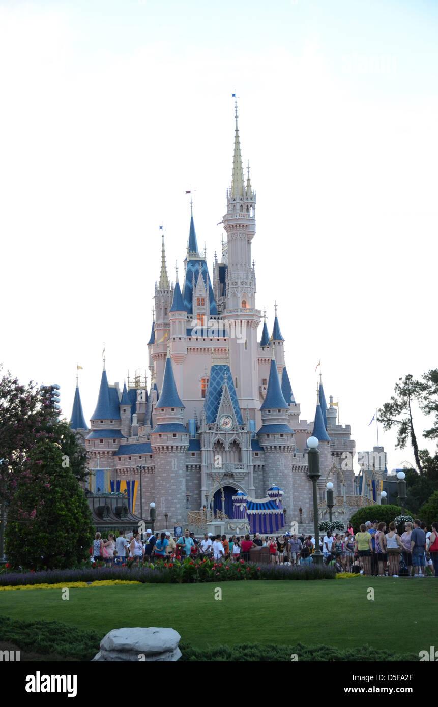 Cinderella Castle, Magic Kingdom, Walt Disney World Resort, Orlando, Florida, USA Stock Photo