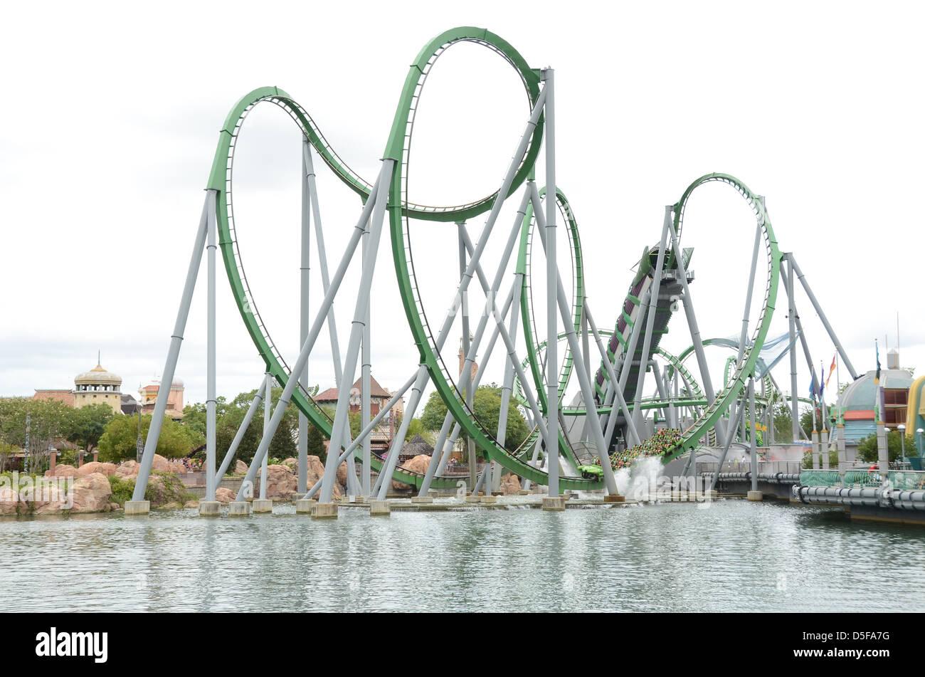 The Incredible Hulk Ride At Universal Studio S Islands Of Adventure Orlando Florida Stock Photo Alamy