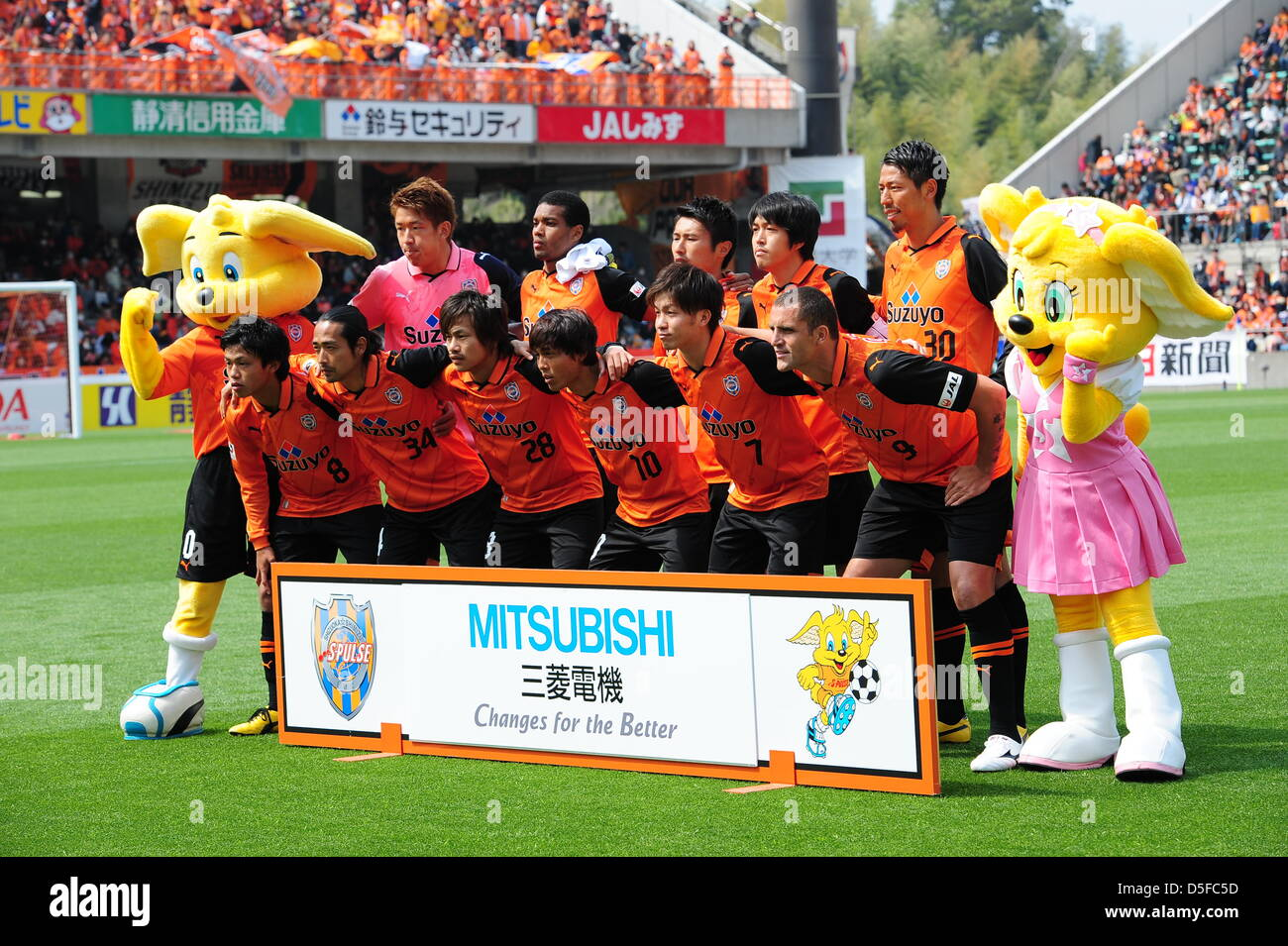 Shimizu S-Pulse team group line-up, MARCH 30, 2013