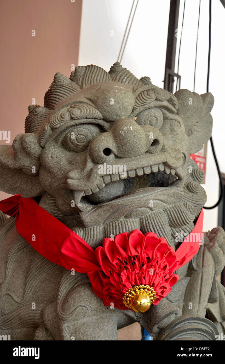 Chinese guardian lion or Foo Dog - Stock Image