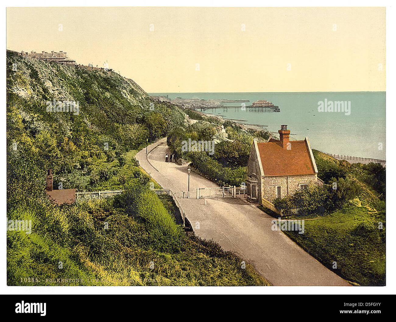 [Lower Sandgate Road, Folkestone, England] (LOC) - Stock Image