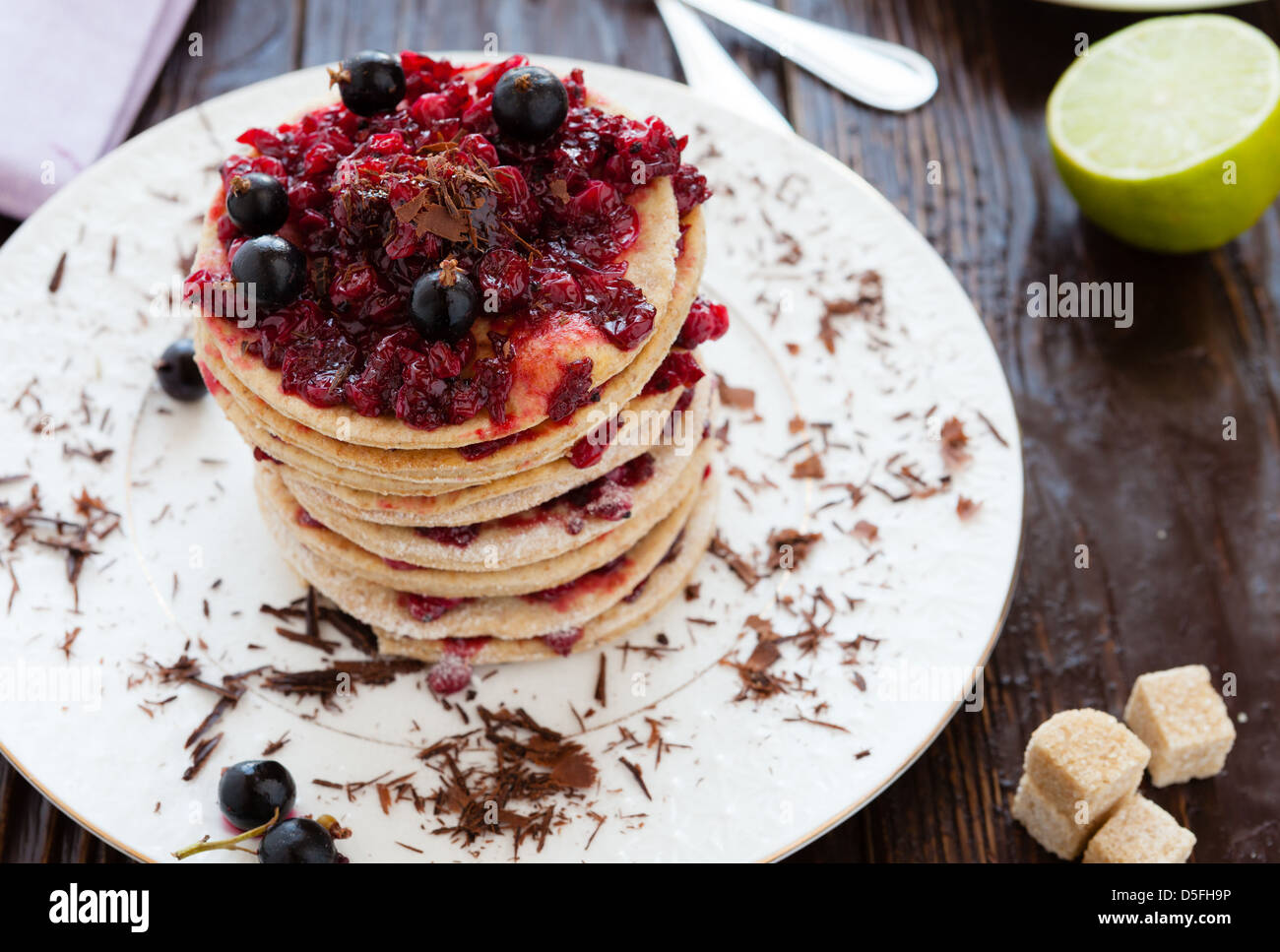 baked food dessert sandwich - Stock Image
