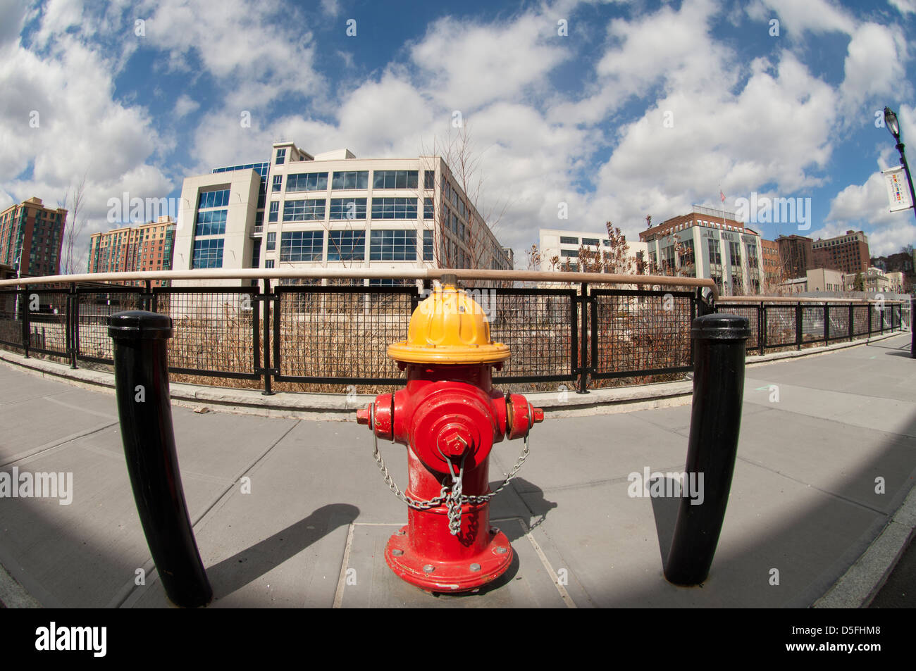 Fire hydrant in downtown Yonkers in Westchester County in New York State - Stock Image