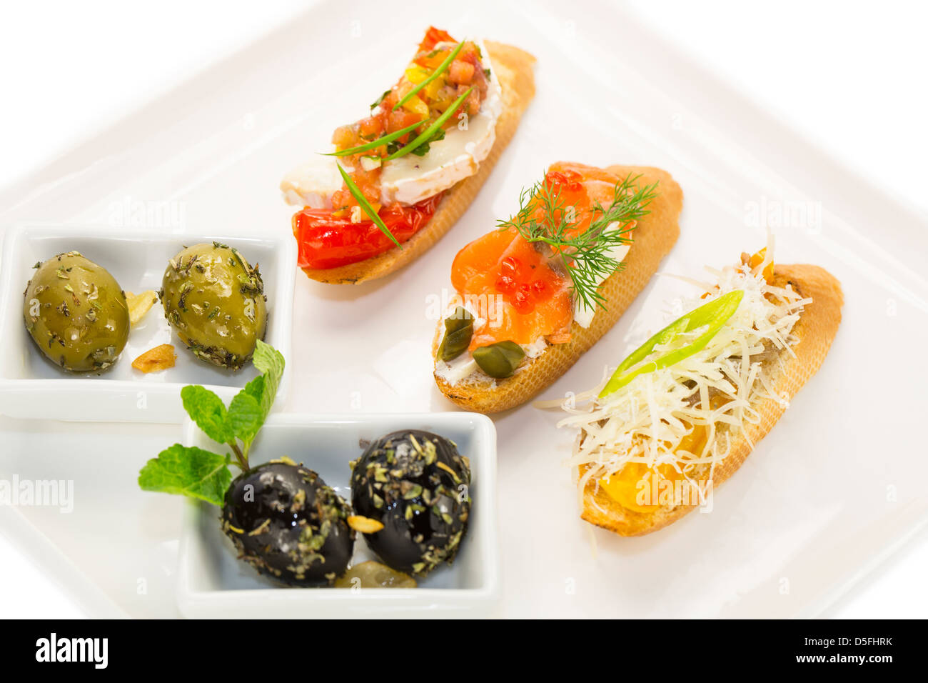 Spanish sandwiches - Stock Image