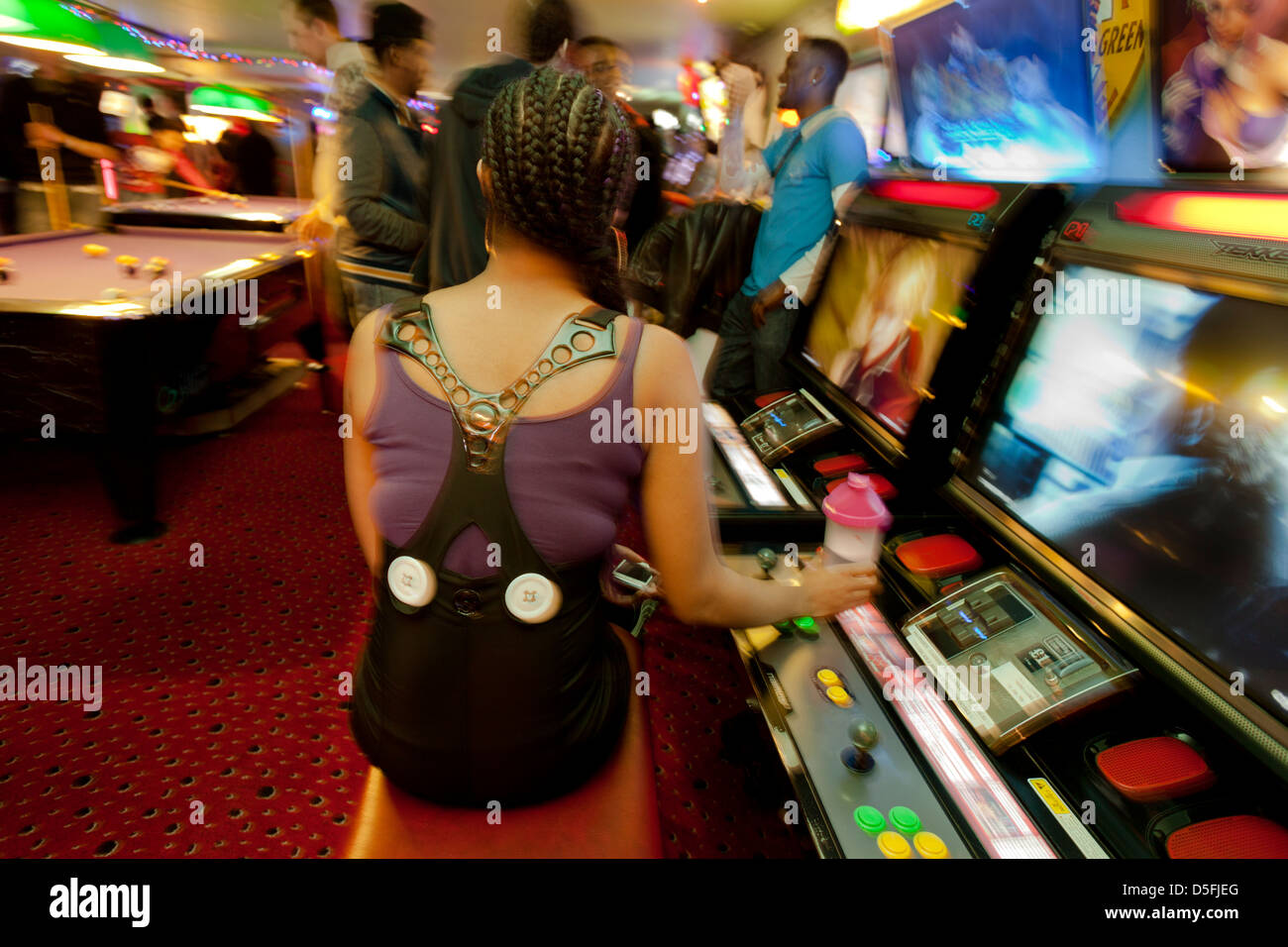 Arcade Party in Soho London - Stock Image