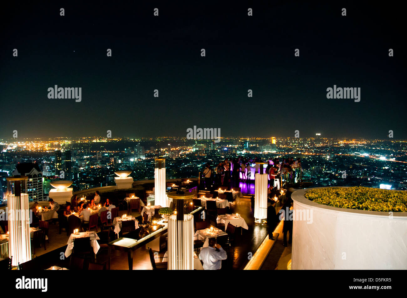 Night View From The Rooftop Restaurant And Bar Sirocco Bar State Stock Photo Alamy