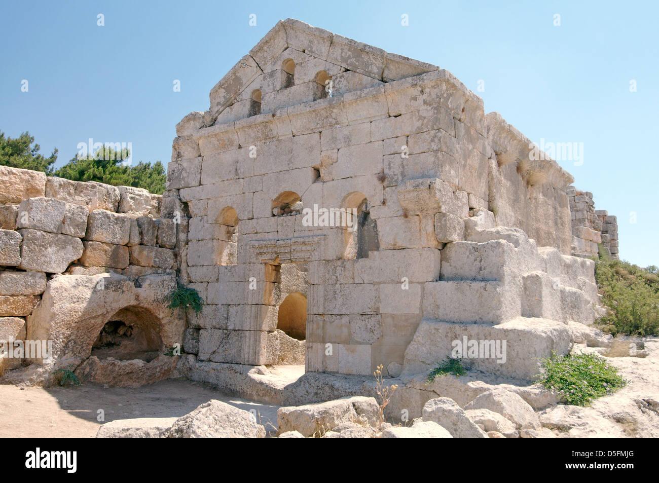 Ruins of the Church of Saint Simeon Stylites, Syria - Stock Image