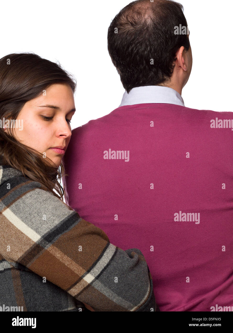 Quarreled couple not speaking to one another - Stock Image