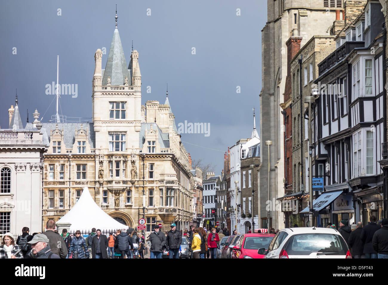 Kings Parade Cambridge England - Stock Image