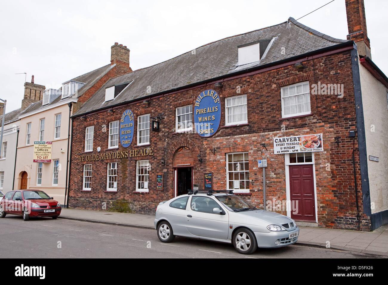 Ye Olde Maydens Heade in Kings Lynn Norfolk England - Stock Image