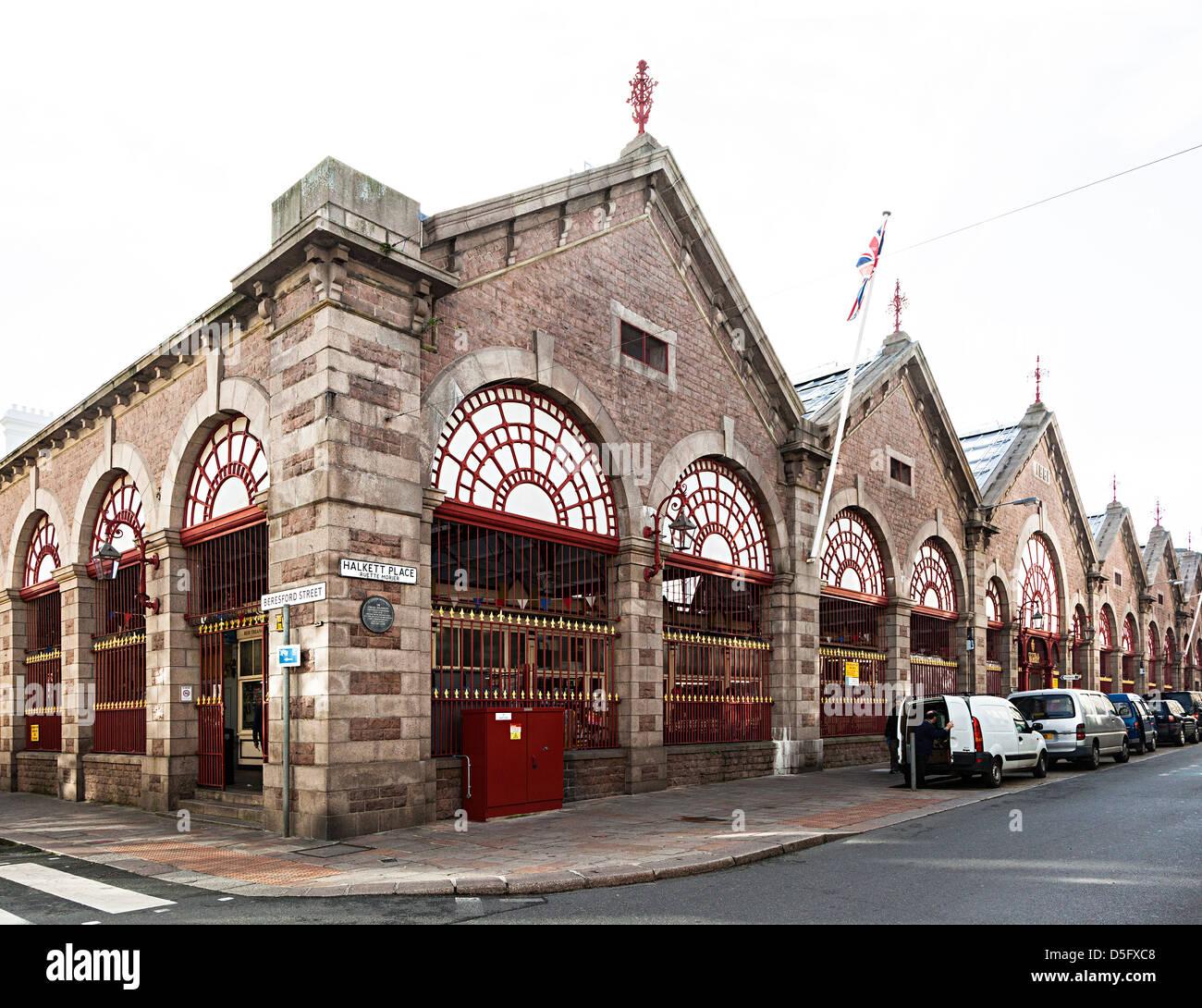 Central Market, St Helier, Jersey, Channel Islands, UK - Stock Image