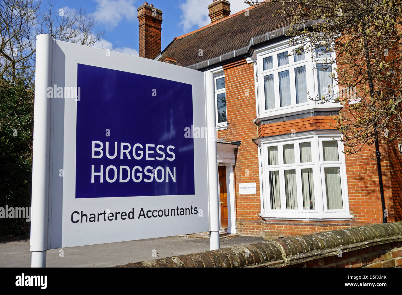 Burgess Hodgson Chartered Accountants Canterbury - Stock Image