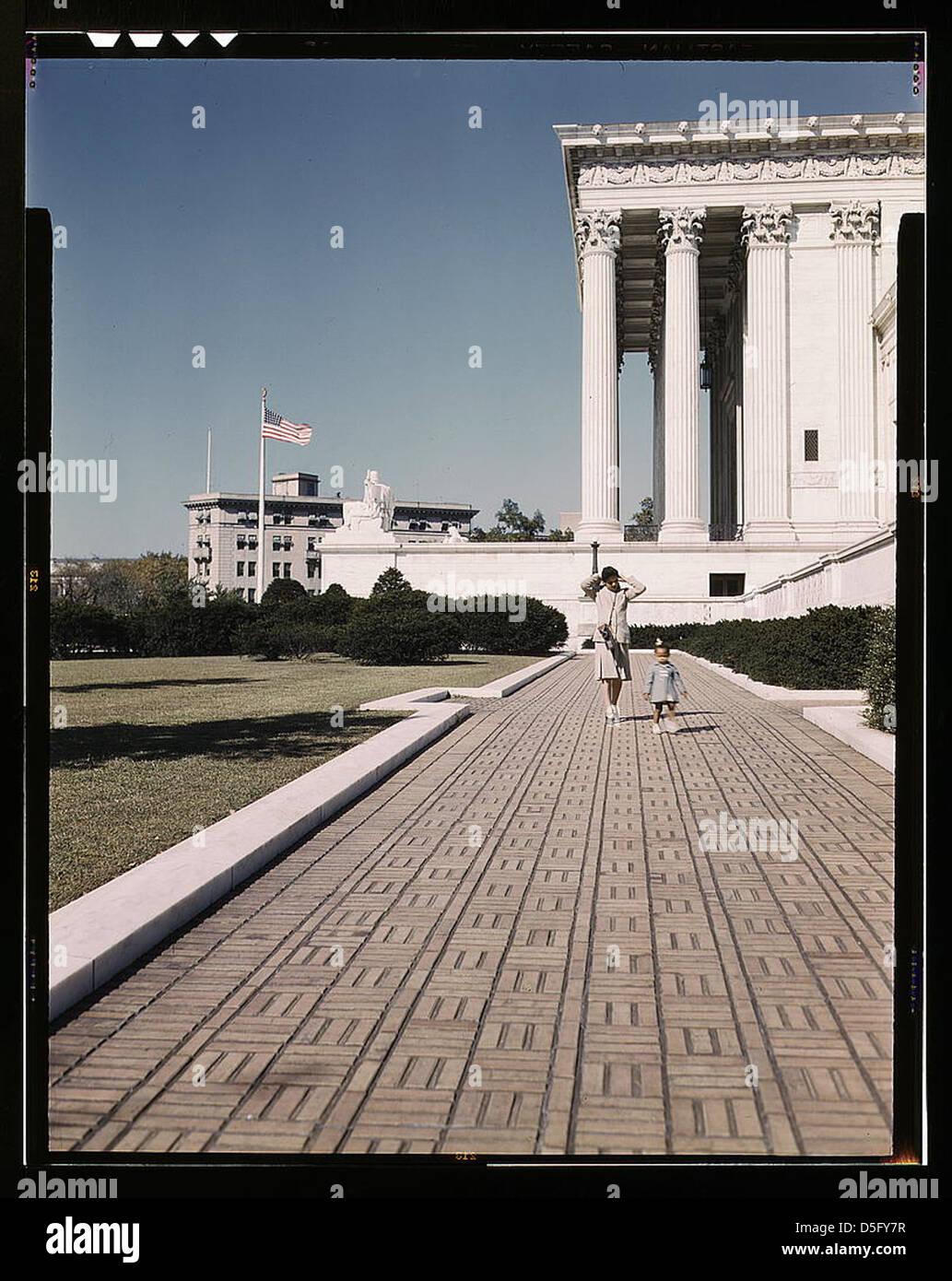 U.S. Supreme Court Building, Washington, D.C. (LOC) - Stock Image