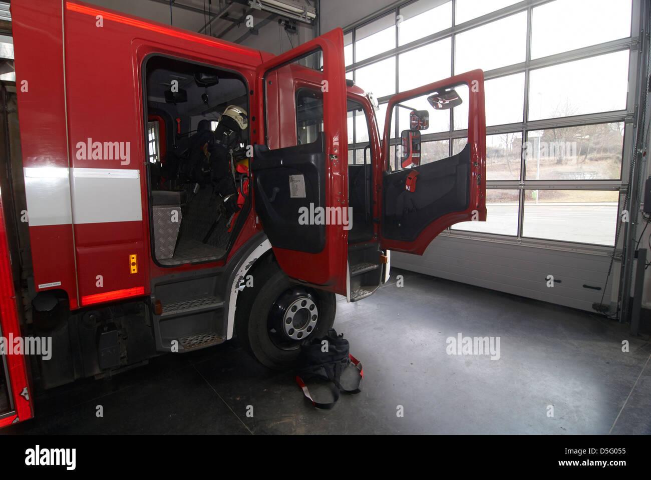 Czech emergency service - cesky integrovany zachranny system IZS - police, fire and rescue service, Emergency medical Stock Photo