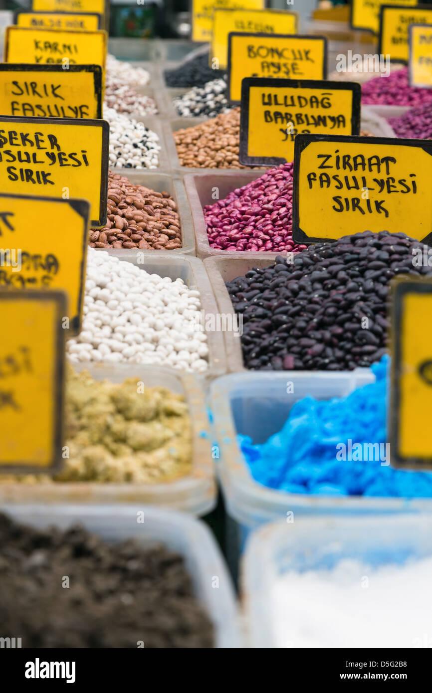 Egyptian Bazaar, Istanbul, Turkey, Europe - Stock Image