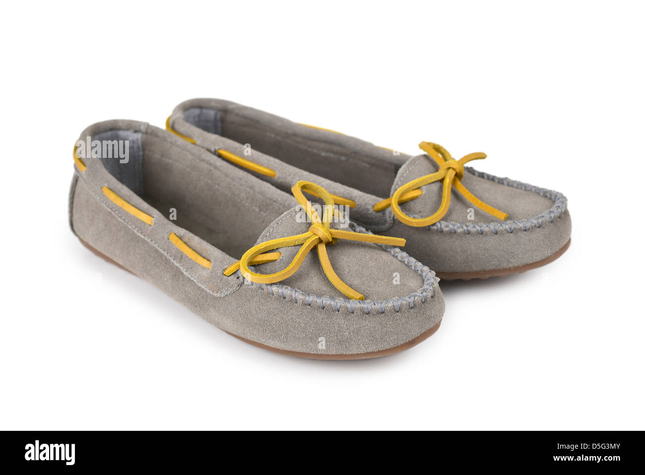 Loafers, Women's Shoes - Stock Image