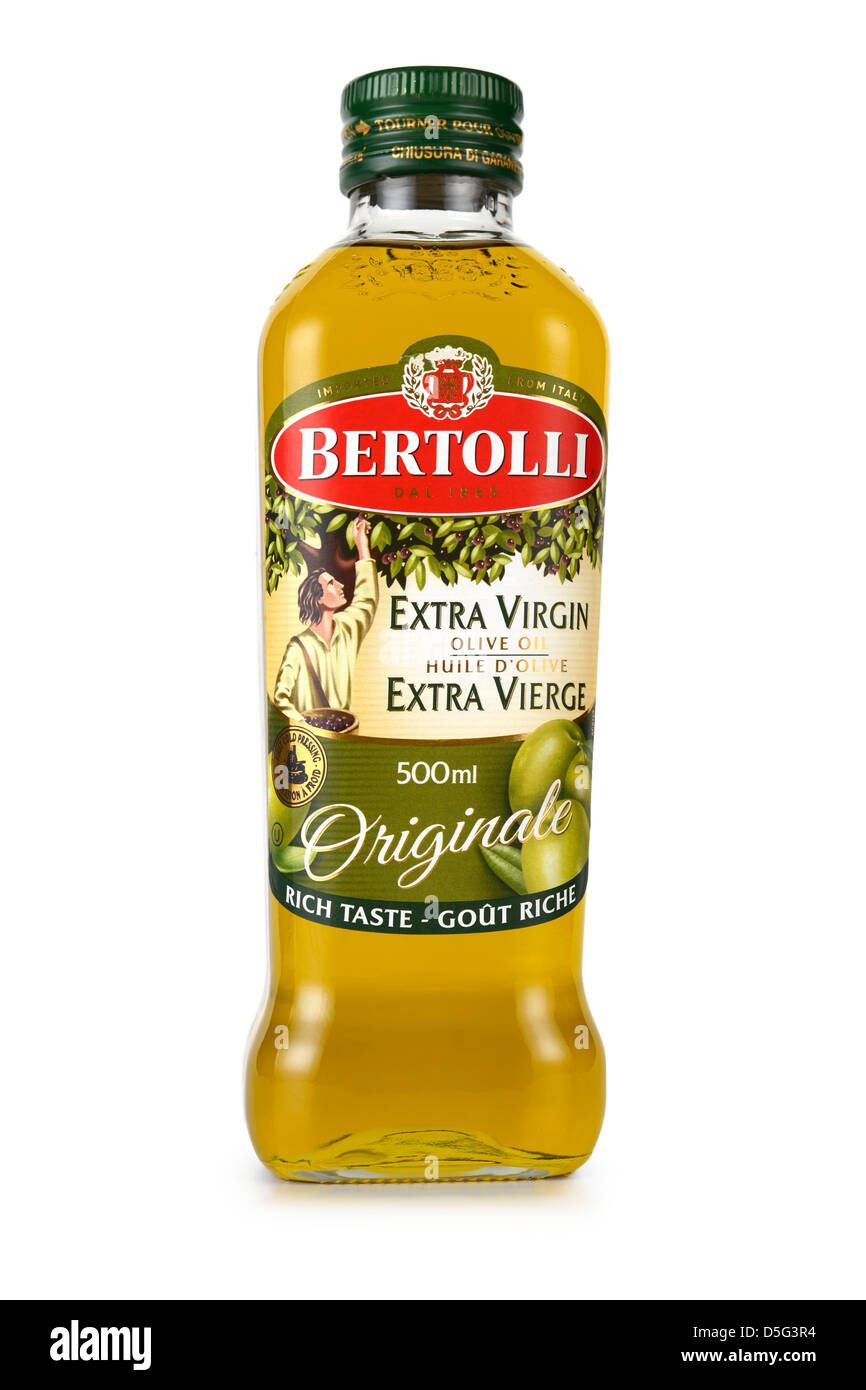 Olive Oil, Bottle of Extra Virgin - Stock Image