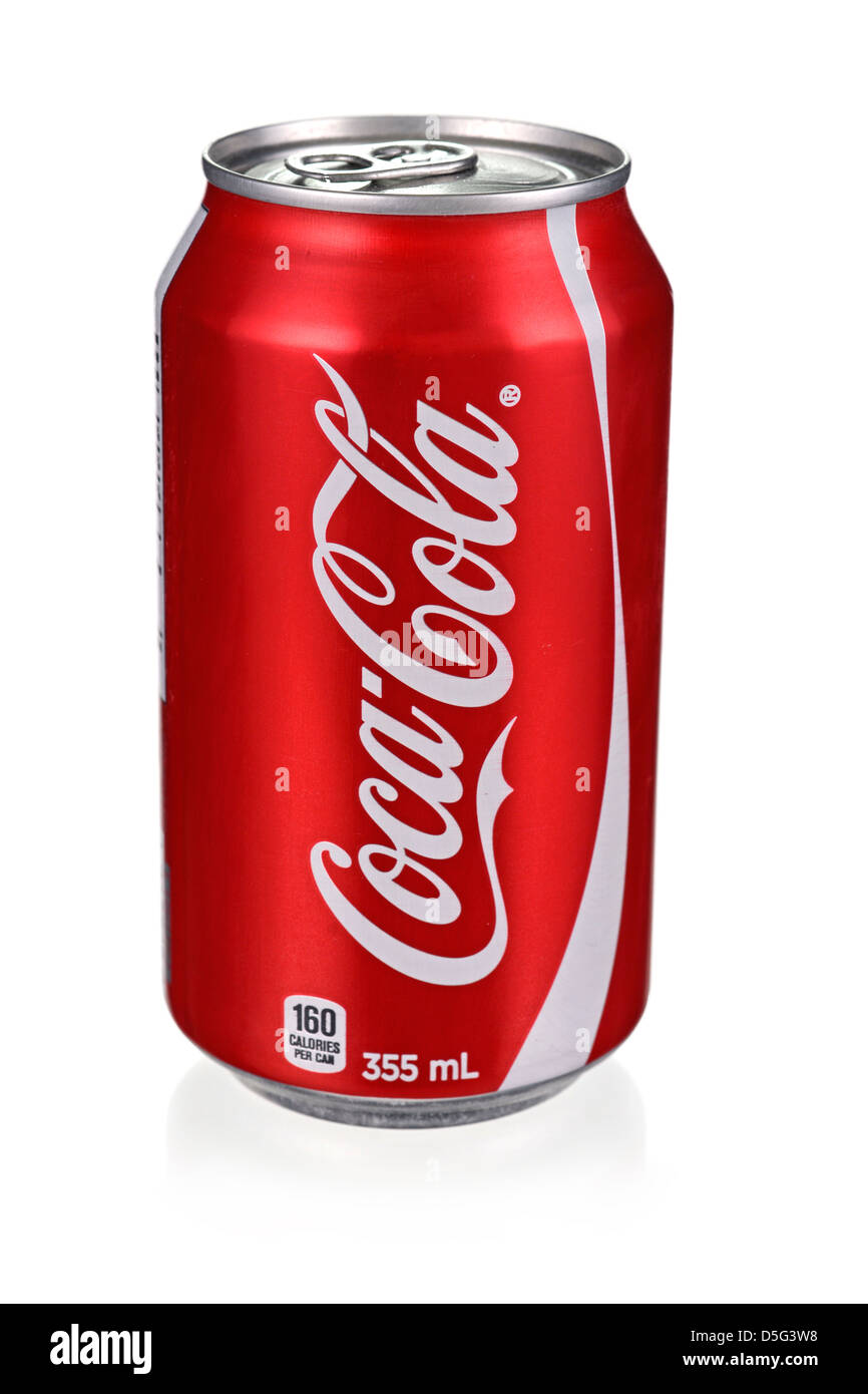 Coca Cola Can, Coke Can - Stock Image
