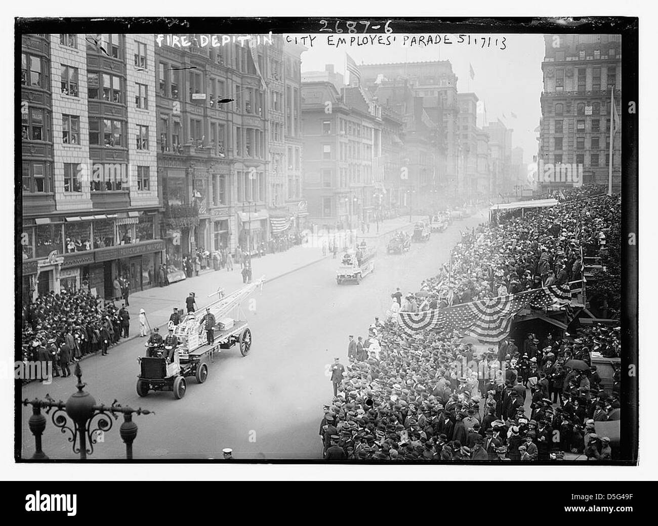 Fire Dept. in City Employees' parade, N.Y., 5/17/13 (LOC) - Stock Image