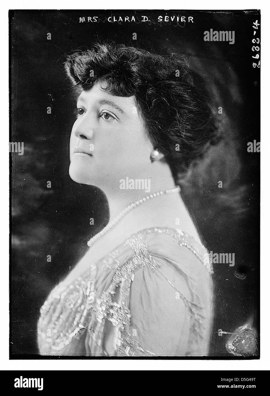 Mrs. Clara D. Sevier (LOC) - Stock Image