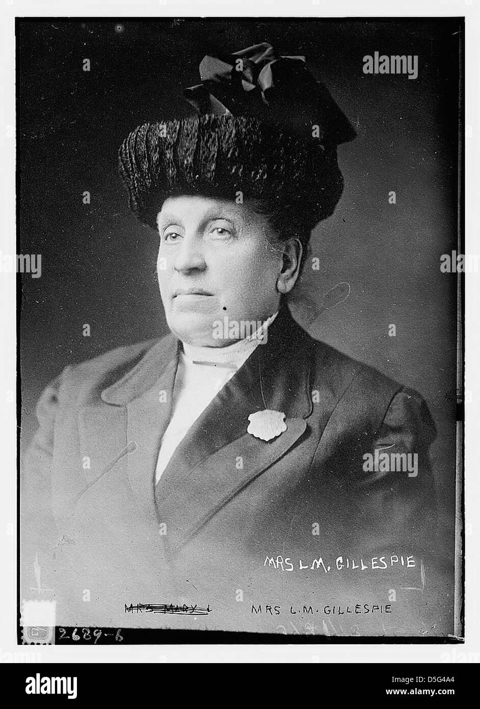 Mrs. L.M. Gillespie (LOC) - Stock Image