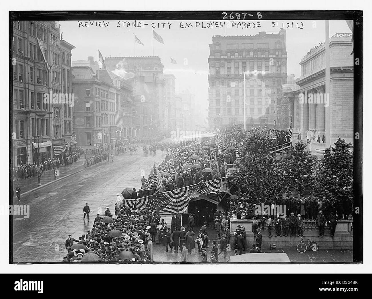 City Employees' parade - Review Stand (LOC) - Stock Image