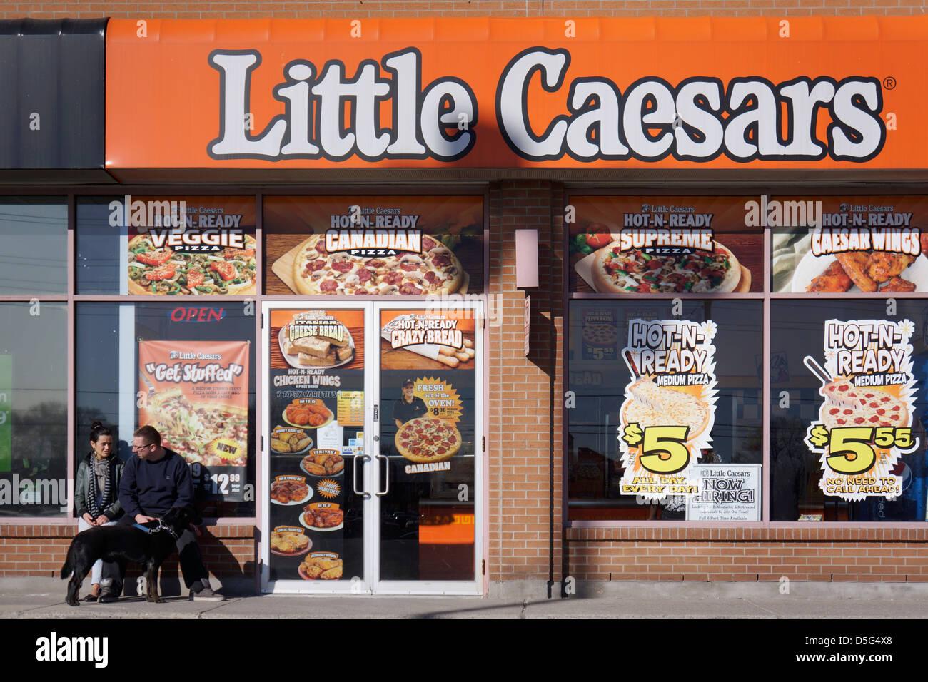 Little Caesars Restaurant - Stock Image
