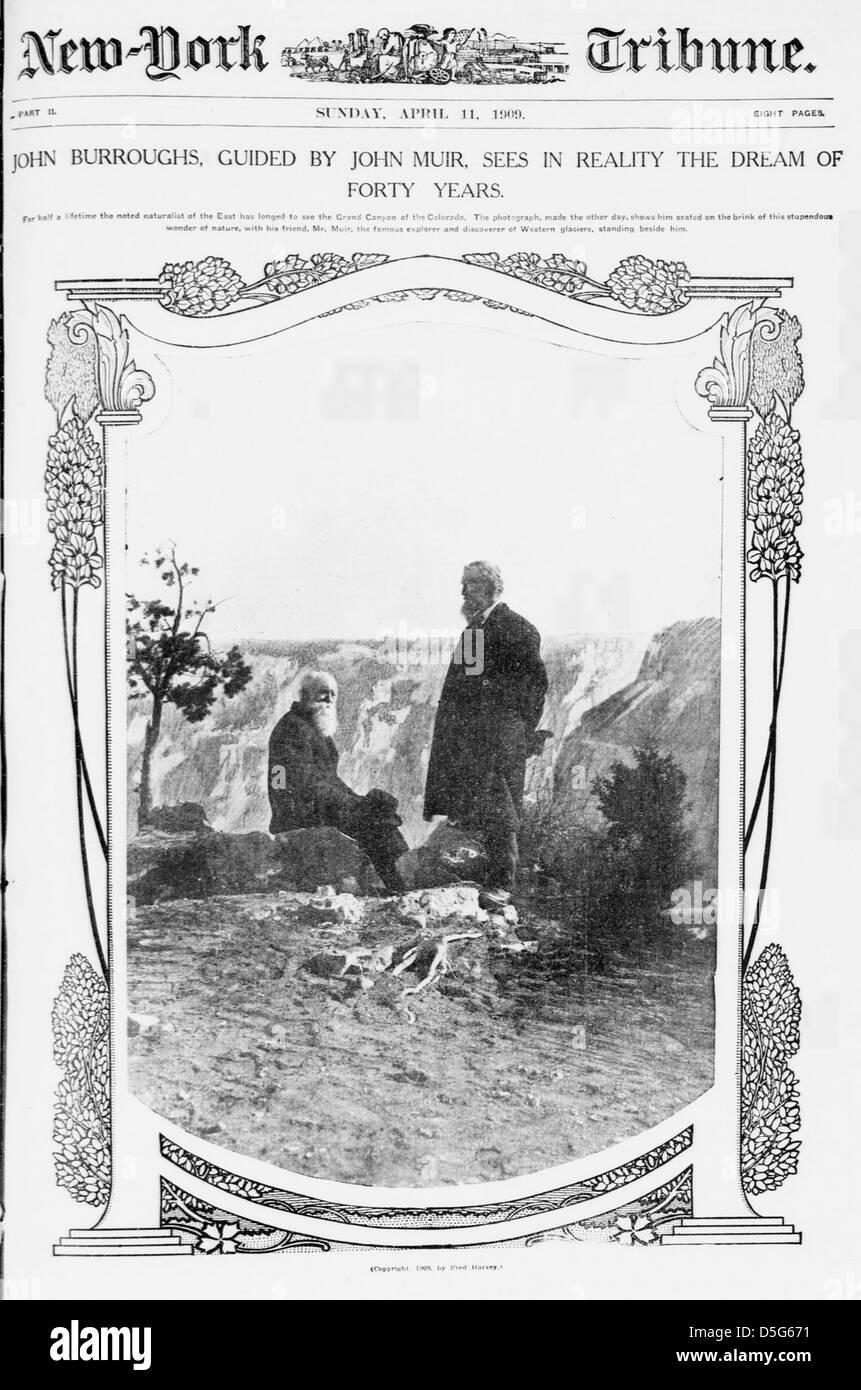 GRAND CANYON 8x10 SILVER HALIDE PHOTO PRINT JOHN MUIR /& JOHN BURROUGHS