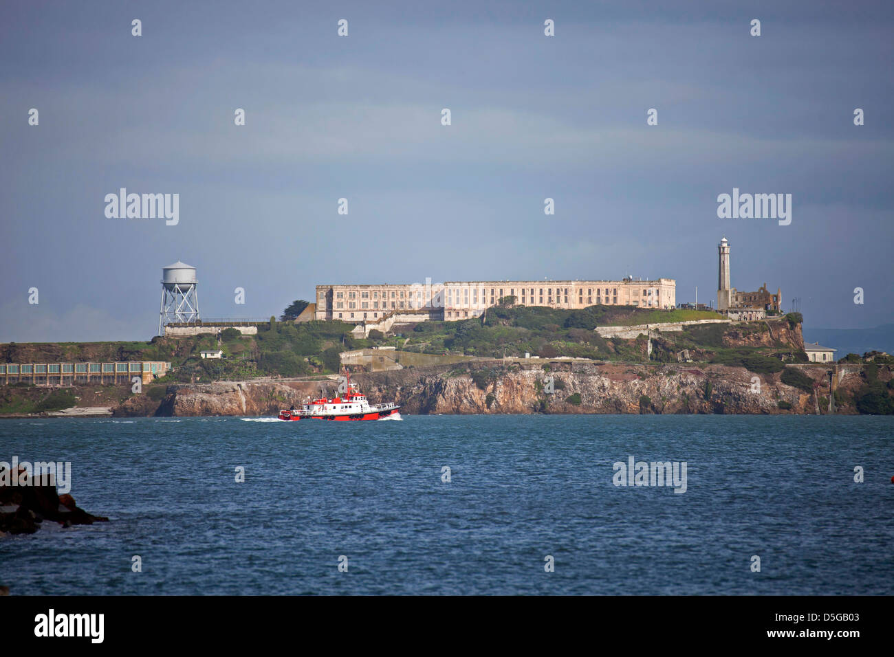 Alcatraz Island, San Francisco, California, United States of America, USA - Stock Image