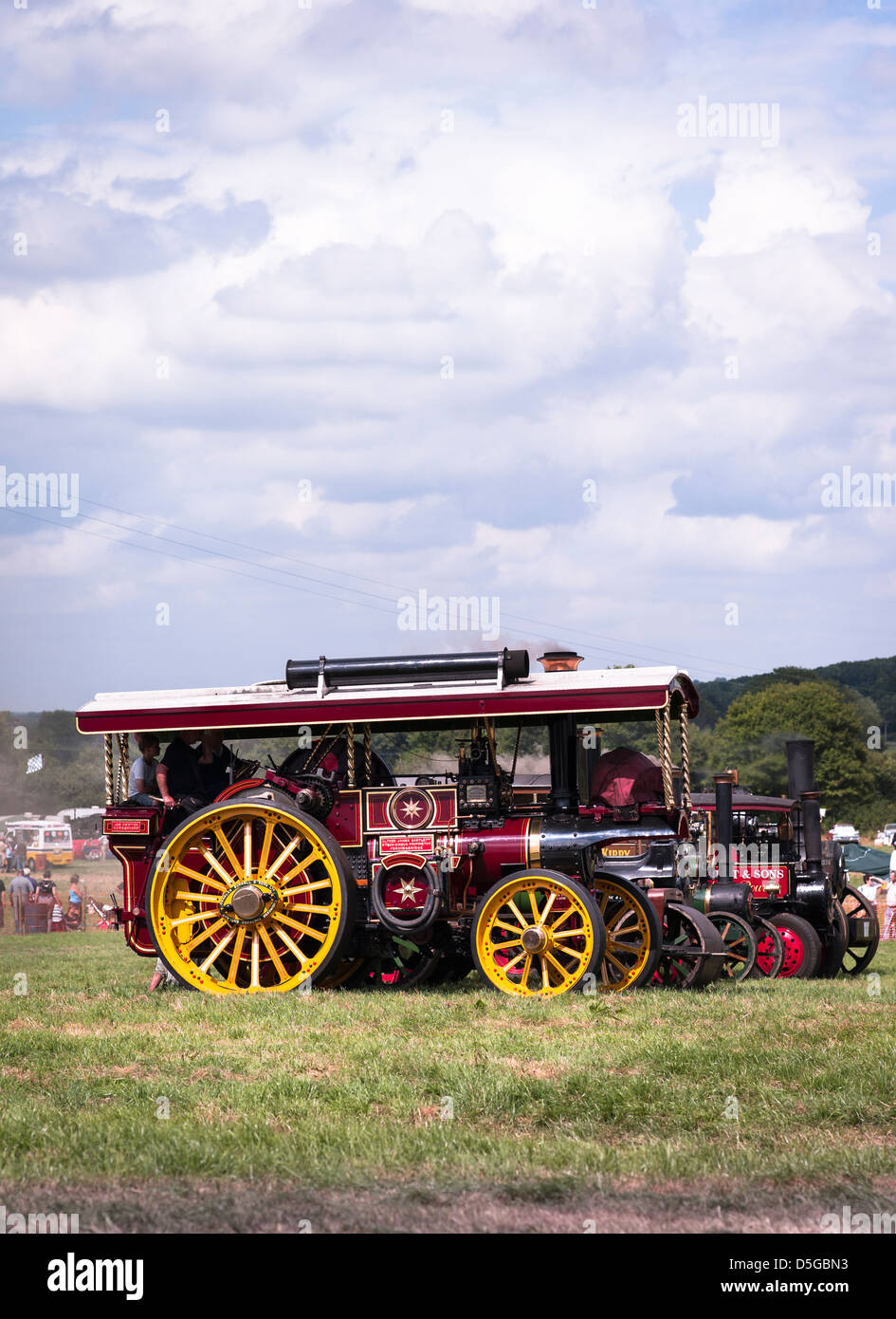 Preserved Burrell Showman's engine on display in Wiltshire UK - Stock Image