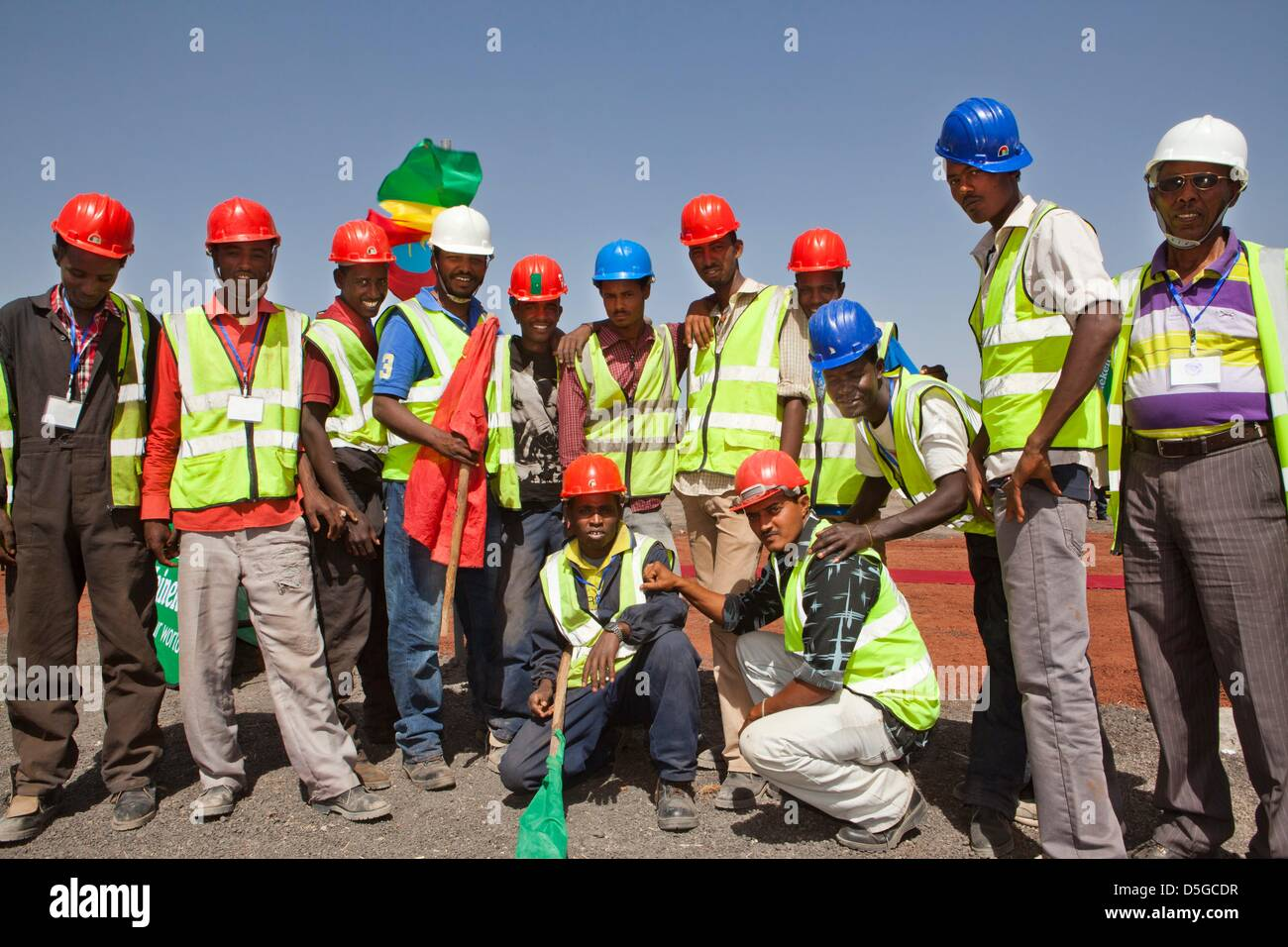 Dutch minister lilanne ploumen (development aid) visits construction site of new heinkene brewery outside  Addid Stock Photo