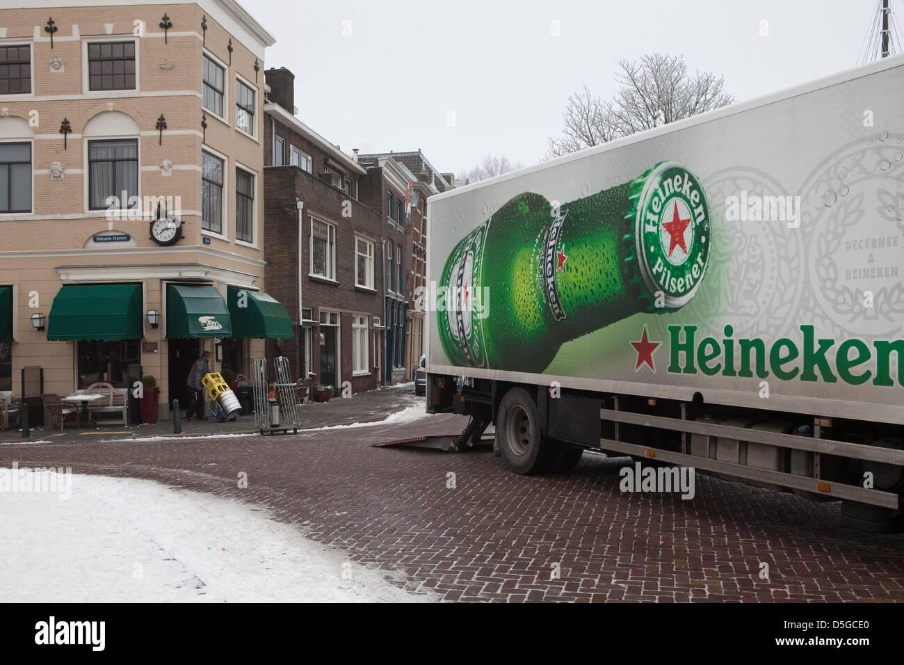 heineken truck in the netherlands Stock Photo