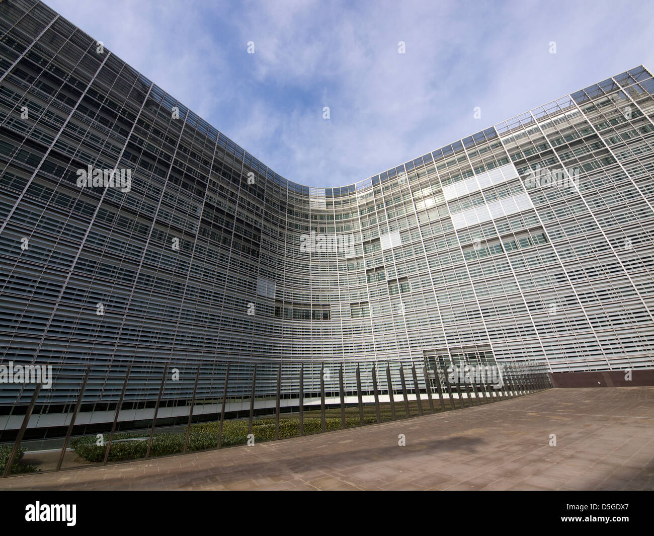 The Berlaymont building of the European Commission is enormous. Brussels, Belgium - Stock Image